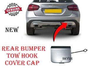 Mercedes Rear Bumper Chrome Tow Hook Cover Cap For 14-19 GLA Models NEW GENUINE