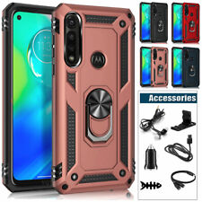 For Motorola Moto G Power 2020 Case Cover Armor Metal Ring Kickstand Accessories