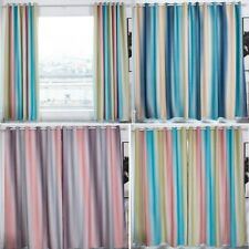 Gradient Eyelet Blockout Curtains Window Curtain Drapery for Boys Girls Bedroom