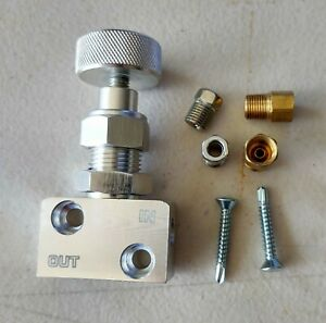 Disc Brake Swap Adjustable PROPORTIONING VALVE Complete Kit W/ Instructions