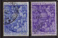ITALY 1950 Holy year Used  Sc.535-536 (Sa.620/621)