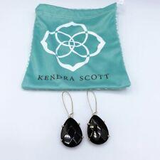 *Kendra Scott Black Dangle Earrings Large