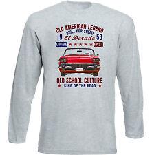 VINTAGE American Car CADILLAC EL DORADO 1-Nuova T-shirt di cotone