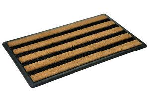 MD-ENTREE Bürstenfußmatte Costa 45x75 cm nature Fußmatte Matte Draußen-Matte Neu