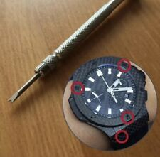 Strap Leather Rubber Band Top A Grade H Screw Driver For Screws On Hublot Bezel