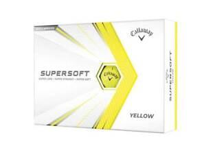 NEW Callaway 2021 Supersoft Golf Balls - Yellow - Drummond Golf