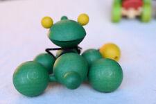 Nachziehtier grasgrüner Hoppelfrosch Kinderspielzeug