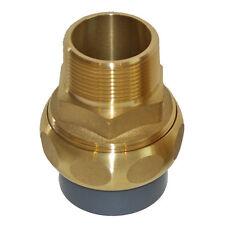 """Pool Messing PVC Übergang Verschraubung d=40 mm x 1 1/4"""" AG Heizung"""
