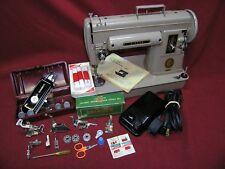 1953 Singer 301A SHORT BED Slant Sewing Machine w/Pedal/Buttonholer/Attachments