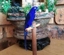 OOAK Realistic Miniature Dollhouse Handmade Bird Animals - Hyacinth Macaw 1:12