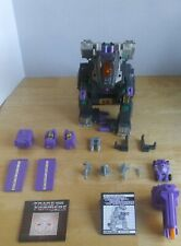 Vintage 1986 Hasbro Transformers G1 TRYPTICON DECEPTICON BASE Near Complete VG
