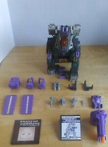 Vintage 1986 Hasbro Transformers G1 TRYPTICON DECEPTICON BASE Near Complete VG