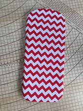 Bugaboo Cameleon fitted sheet for carrycot bassinet Red chevron