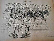 1898 Original Print Caricature Félix au Bois