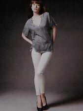 New NWT Stella McCartney sz 31 Cropped Twill Skinny Ankle Zip Jeans