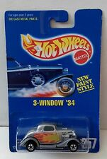 Hot Wheels 1991 Collector 257 3-window '34 Silver small bw 12350