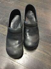Sanita 41 10 10.5 Danish Clogs Professional Cabrio Leather Black