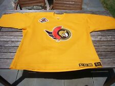 CCM Ottawa Senators Practice Used Authentic Yellow Hockey NHL Jersey sz. 58 vtg