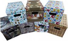 Aufbewahrungsbox Karton Pappe mit Deckel Kiste Schachtel 35 L und 9 L