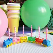 Vintage Animal Train Candleholder Set Cake Topper Birthday Shower Pink Candles