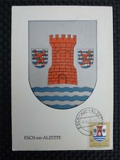 LUXEMBURG MK 1957 ESCH-SUR-ALZETTE MAXIMUMKARTE CARTE MAXIMUM CARD MC CM c2450