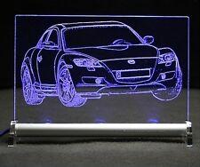 MAZDA rx8 come auto incisione su lastra di LED RX 8