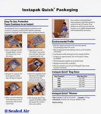 """210 Bags 18 x 18"""" # 20 Instapak Quick Bags Foam In Bags"""