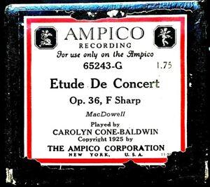 AMPICO MacDowell ETUDE DE CONCERT Op.36 F Sharp 65243-G Player Piano Roll