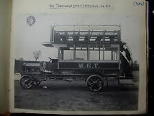 """ENG747 - The TRAMWAYS M.E.T. OMNIBUS Co - GENUINE Large Early Photo 10.5"""" x 8"""""""