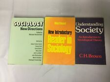 3x Vintage Sociology Books Understanding Society New Directions Introductory