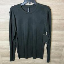 Lululemon Mens Large Black/Graphite Gray Metal Vent Breathe Long Sleeve Top NWT