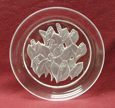 """SASAKI CRYSTAL - LILY OF THE VALLEY - 8"""" PLATE"""