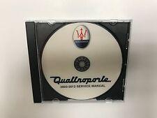 2003-2012 MASERATI QUATTROPORTE diagnostic service repair manual workshop dealer