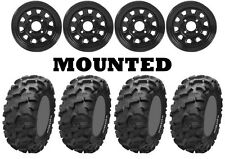 Kit 4 ITP Blackwater Evolution Tires 28x10-12 on ITP Delta Steel Black IRS