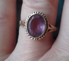 9ct gold amethyst ring in size n/o