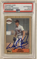 1987 Topps WILL CLARK Signed Autographed Rookie Baseball Card PSA/DNA #420 Giant