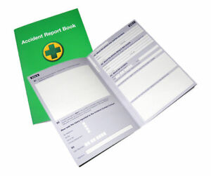 ACCIDENT REPORT BOOK  First Aid School/Office Injury Health Record