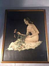 Walter Bird Genuine Painting On Photograph C1920 Antique Vintage Painting