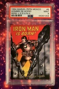 "1994 Marvel Pepsi Mexico #6 ""Ironman Is Born"" PSA9 Pop 1 Pepsi Mexico"