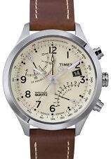 Orologio Timex T2N932 in pelle cronografo uomo beige marrone intelligent quartz