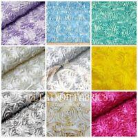 Rosette Fabric 3D Rosette Satin, Floral Satin ( Choose The Color And quantity )