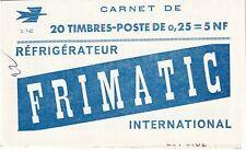 Booklet / Carnet  Yvt 1263-C3 Marianne Decaris 0,25f gris/carmin - Neuf S 7-62