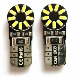 2X Car Bulbs T10 501 W5W LED Lights Dome Interior Sidelight Number Plate CANBUS