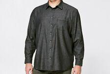 Mens plus size 3XL Black denim chambray long sleeve shirt MR BIG NEW RRP$30