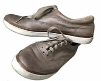Frye Women's Patina Leather Lace Up Low Top Sneakers Brown Shoes Sz 9 M