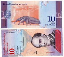 VENEZUELA Billet 10 BOLIVARES 2018 OSO PALMERO / RAFAEL URDANTA NOUVEAU UNC NEUF