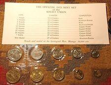RUSSIA 1973 MINT COIN SET + COA ! USSR SOVIET UNC  RUSSIAN TOKEN & NINE COINS !