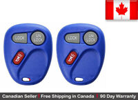 2x New Replacement Keyless Blue Remote Control Key Fob For Chevy Cadillac GMC