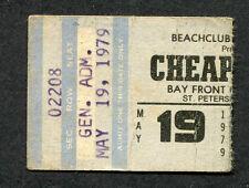 1979 Cheap Trick Concert Ticket Stub St. Petersburg Fl Dream Police Surrender