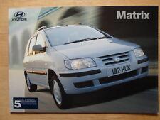 HYUNDAI MATRIX 2002 2003 UK Mkt sales brochure